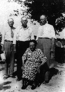 Irene Howard Blanchard & brothers, L-R, Claude, Jim & Robert, circa 1945. Click to enlarge